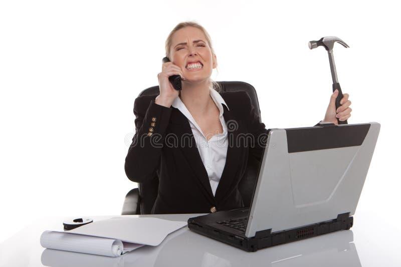 Donna di affari irritata immagini stock libere da diritti
