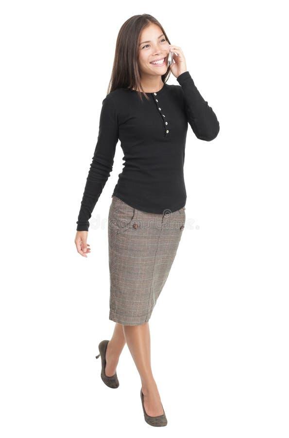 Donna di affari isolata immagine stock libera da diritti