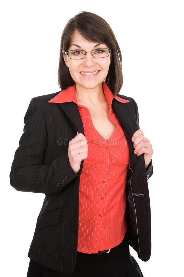 Donna di affari isolata immagine stock
