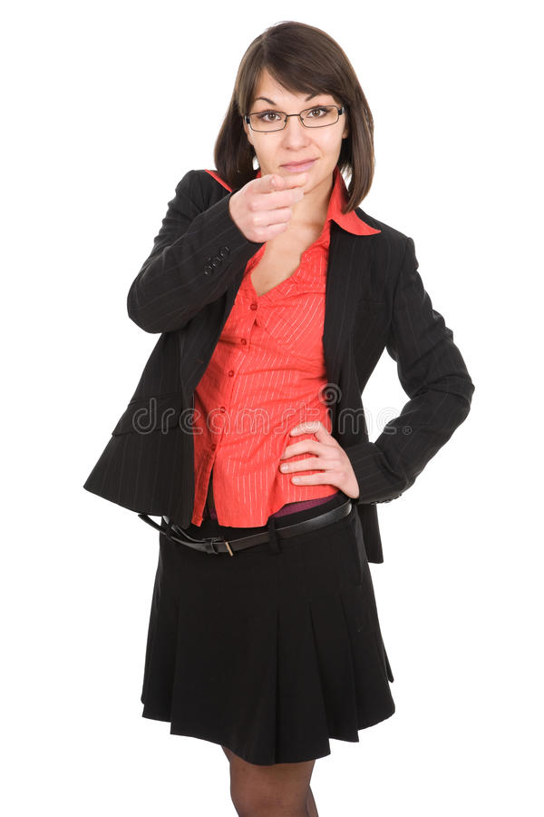 Donna di affari isolata fotografia stock