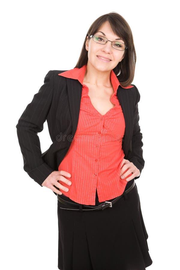 Donna di affari isolata fotografie stock