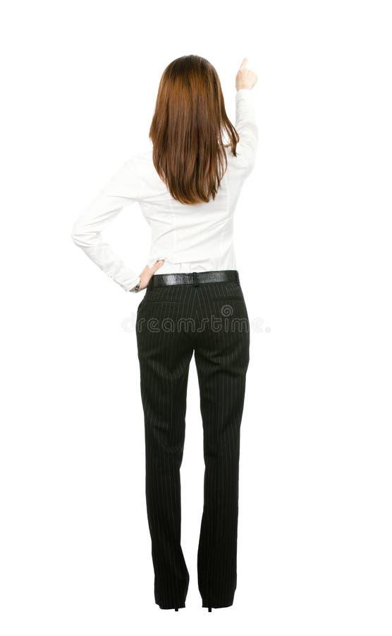 Donna di affari, isolata su bianco fotografia stock libera da diritti