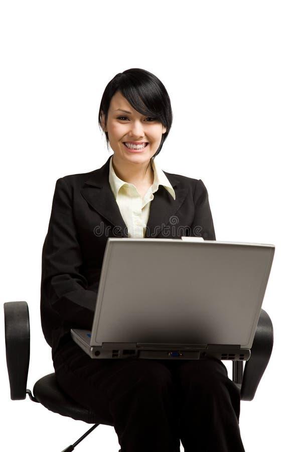 Donna di affari lavorante immagine stock libera da diritti