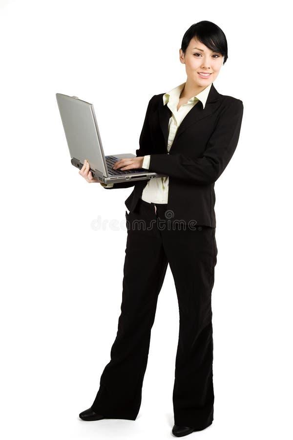 Donna di affari lavorante immagini stock libere da diritti