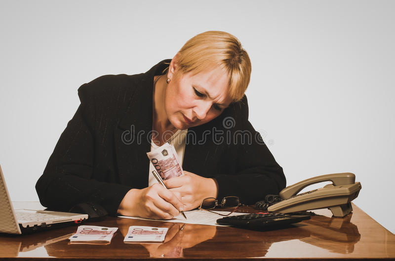 Donna di affari matura immagine stock