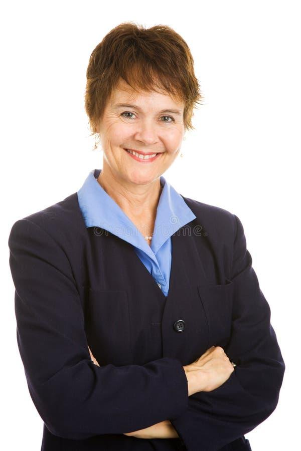 Donna di affari matura amichevole immagini stock libere da diritti
