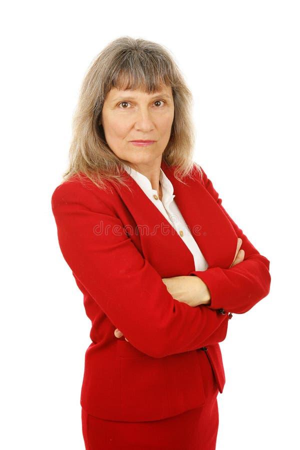 Donna di affari matura arrabbiata immagini stock