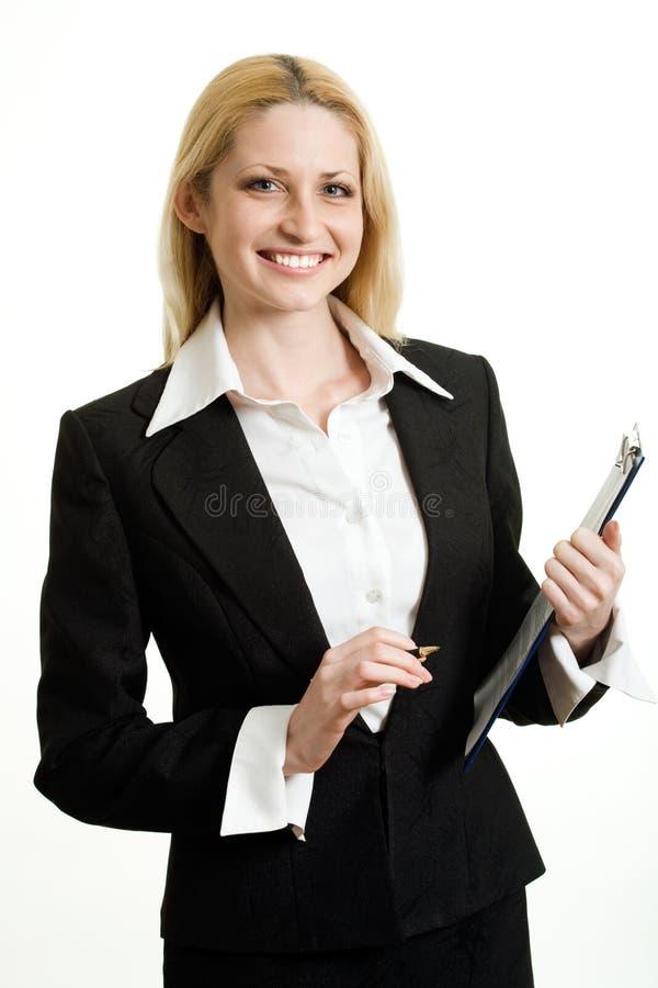 Donna di affari moderna immagine stock libera da diritti