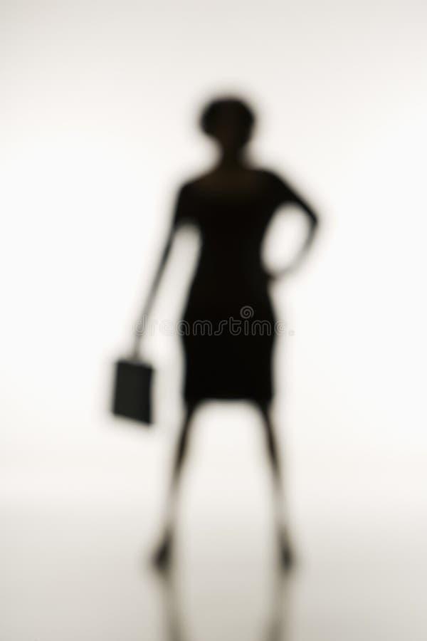 Donna di affari molle del fuoco. fotografie stock