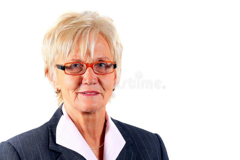 Donna di affari nel suo 50s immagine stock libera da diritti