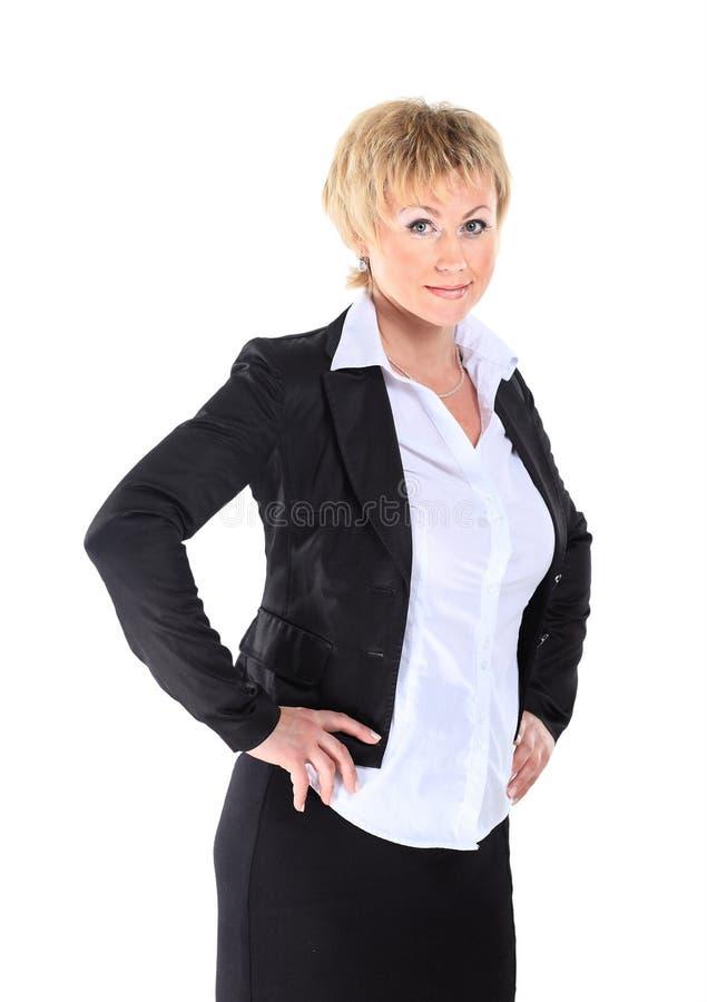 Donna di affari nel suo 40s fotografia stock libera da diritti