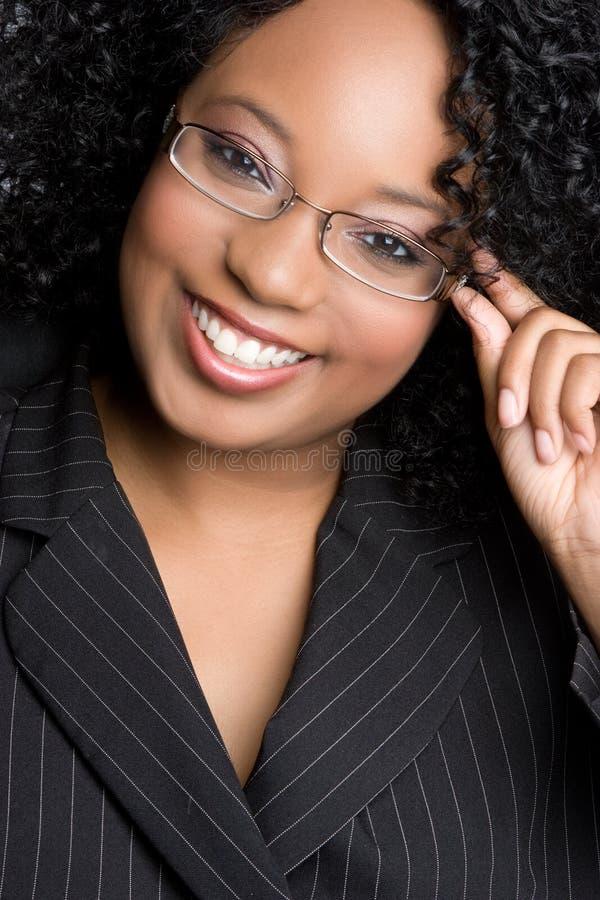 Donna di affari nera fotografia stock libera da diritti