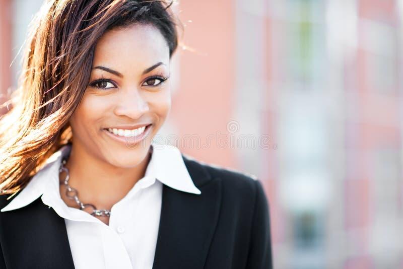 Donna di affari nera immagine stock libera da diritti