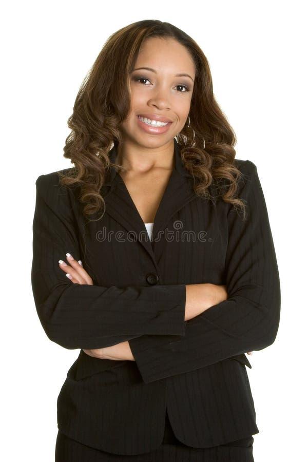 Donna di affari nera fotografie stock libere da diritti