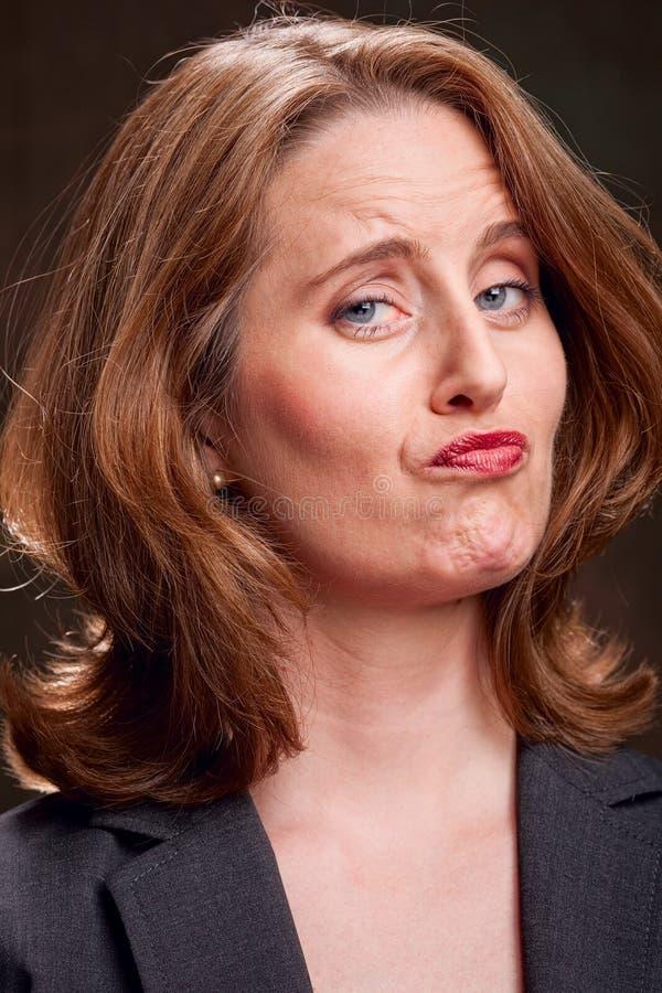 Donna di affari non decisiva fotografia stock libera da diritti