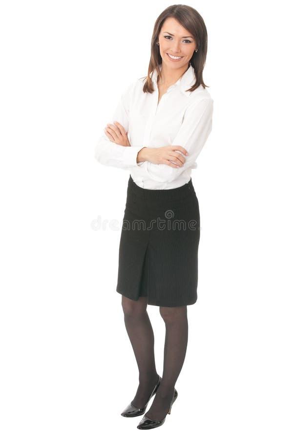 Donna di affari piena del corpo fotografia stock libera da diritti