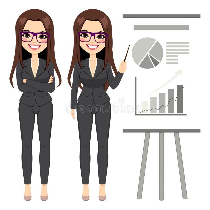 Donna di affari Pointing Chart royalty illustrazione gratis