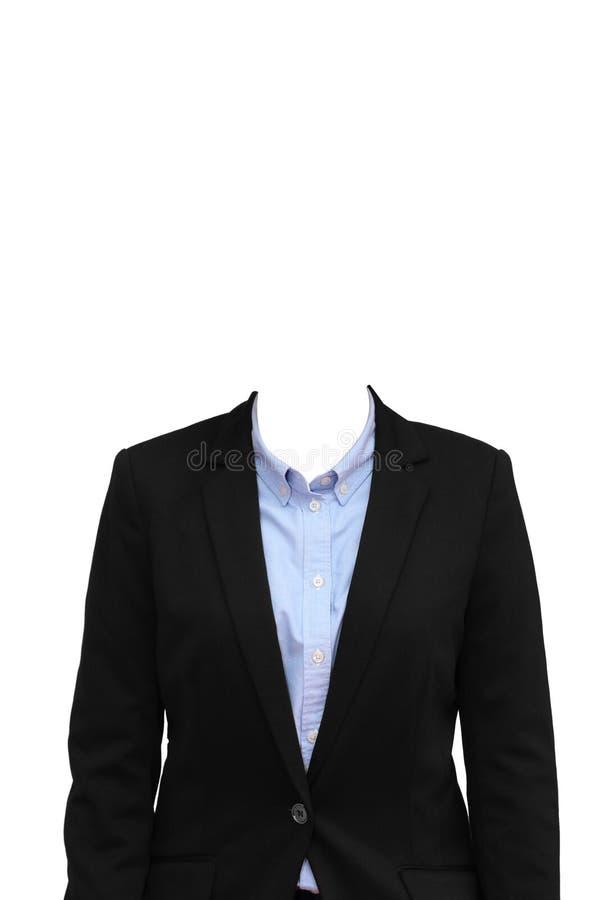 Donna di affari senza testa fotografia stock