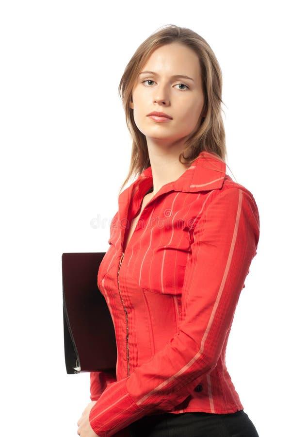 Donna di affari seria fotografia stock