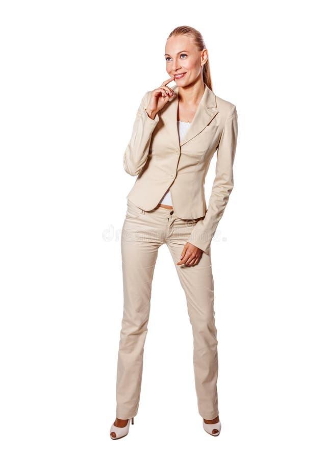 Donna di affari seria diritta immagine stock