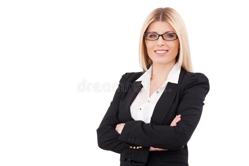 Donna di affari sicura. fotografie stock