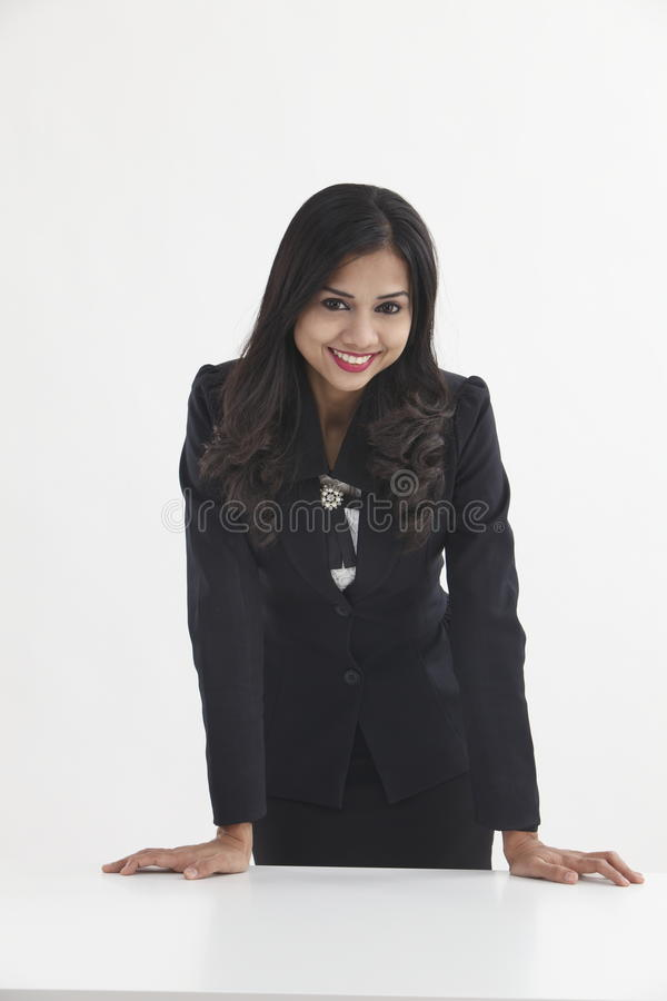 Donna di affari sicura fotografie stock