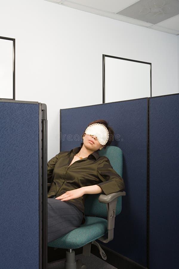 Donna di affari Sleeping fotografia stock libera da diritti