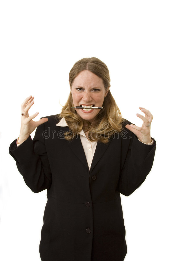 Donna di affari sollecitata fotografia stock
