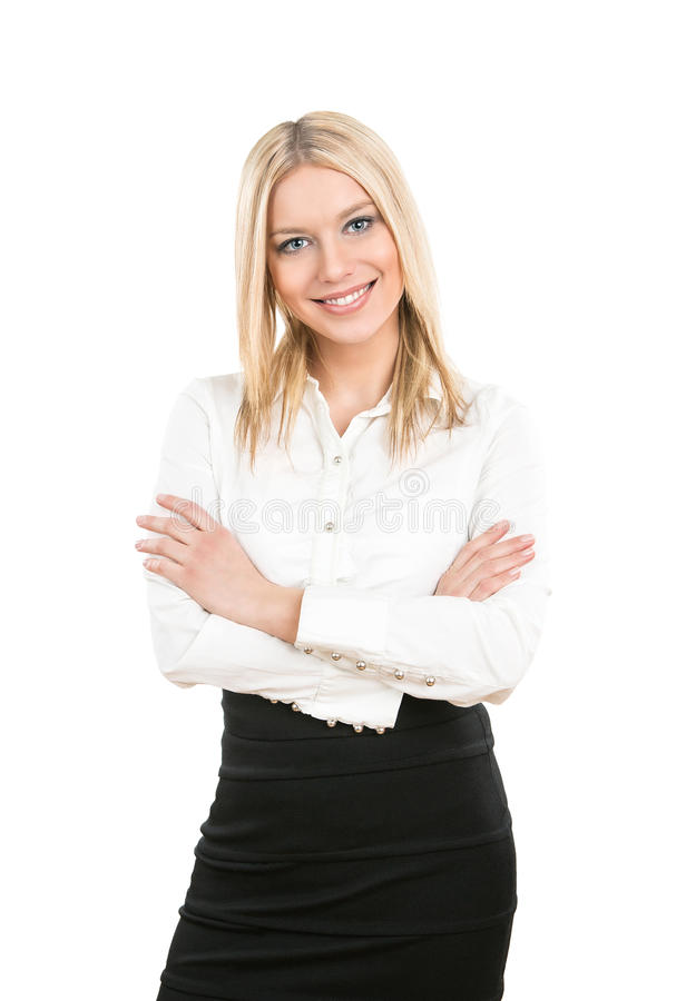 Donna di affari sorridente amichevole fotografie stock