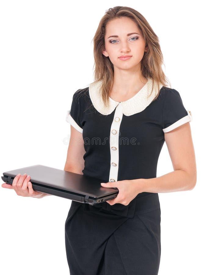 Donna di affari su bianco immagini stock