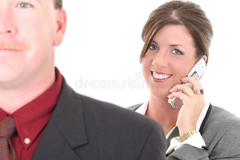 Donna di affari sul cellulare immagini stock libere da diritti
