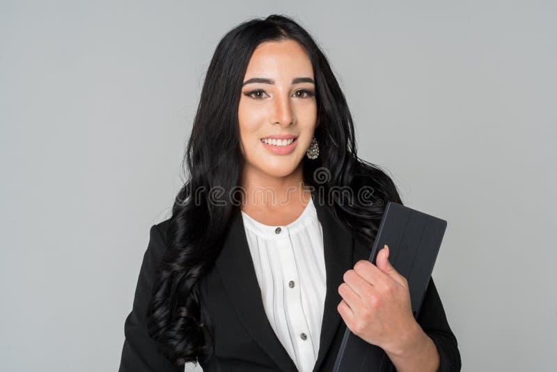Donna di affari sul lavoro immagini stock libere da diritti