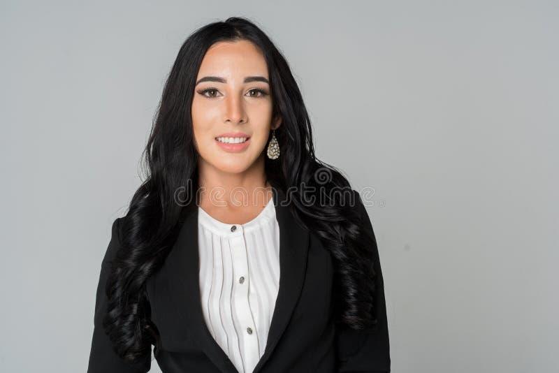 Donna di affari sul lavoro fotografia stock