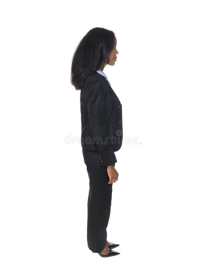 Donna di affari - vista laterale fotografia stock