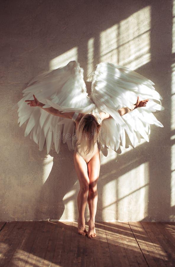 Donna di angelo immagini stock
