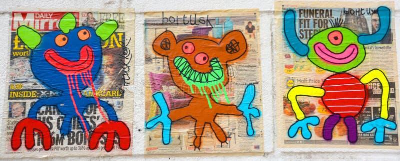Donna di arte della via a Parigi Francia immagini stock libere da diritti