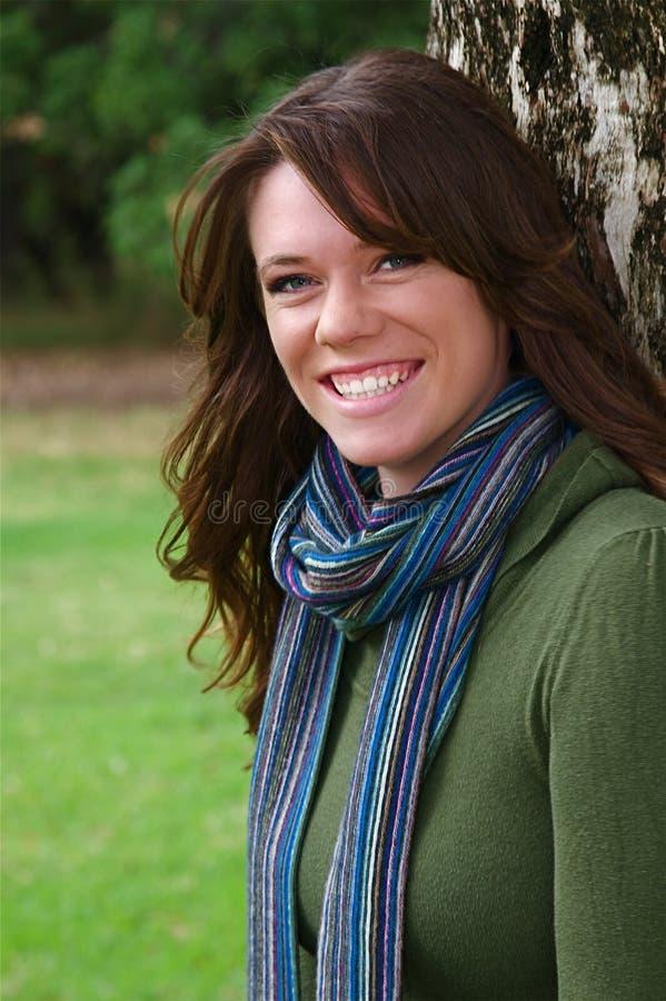 Download Donna di autunno fotografia stock. Immagine di ritratto - 7314676
