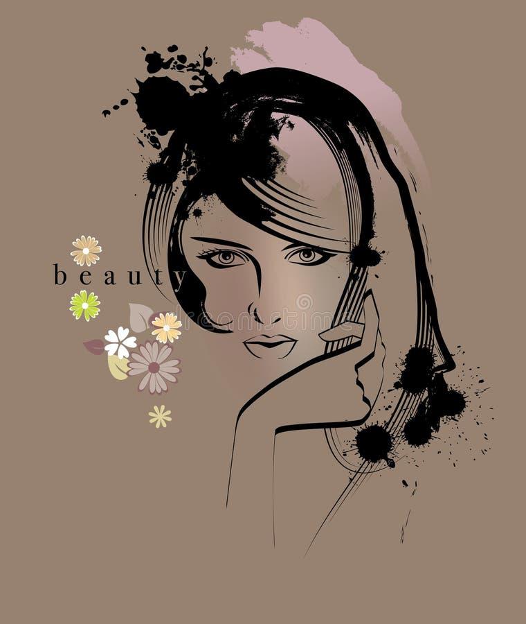 Donna di bellezza royalty illustrazione gratis