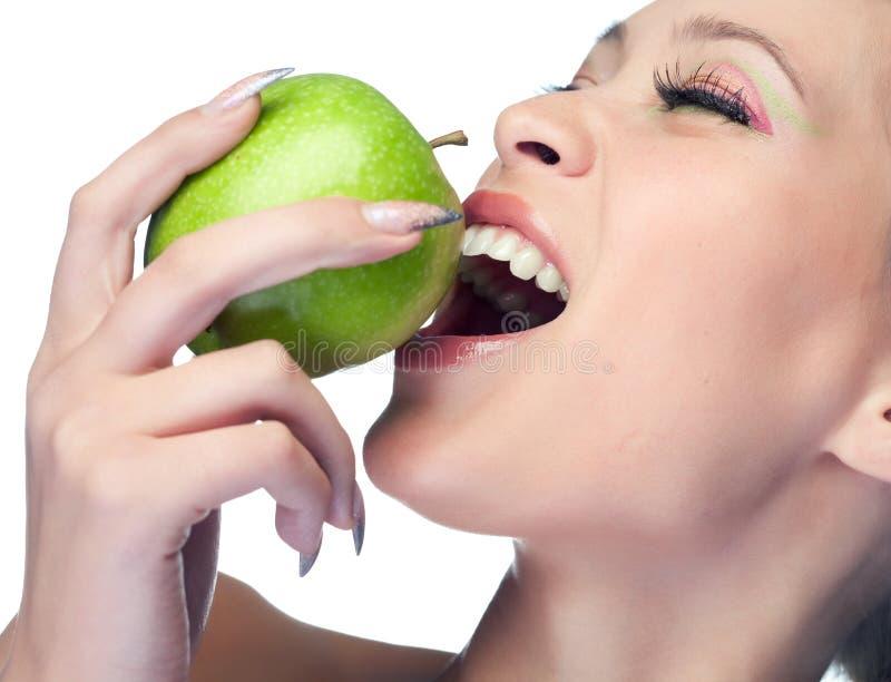 Donna di bellezza con frutta fotografia stock