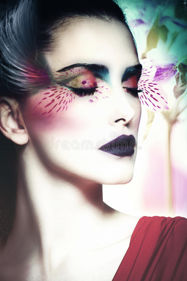 Donna di bellezza di fantasia fotografie stock libere da diritti