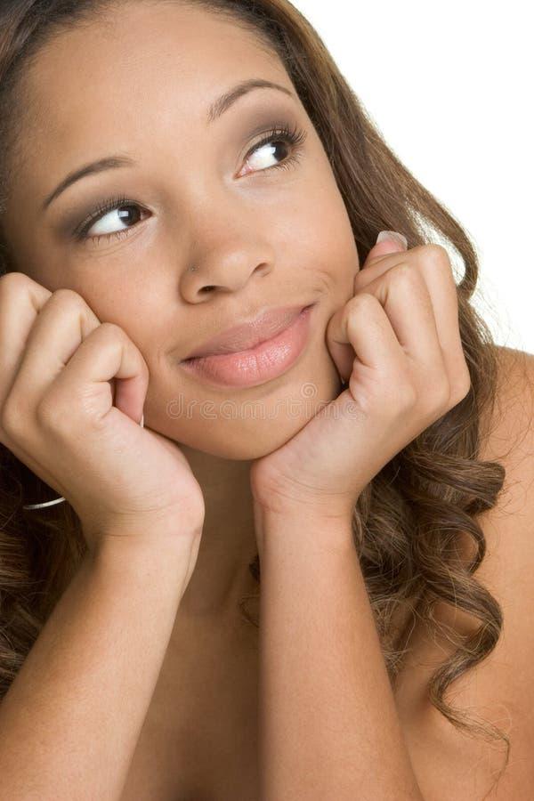 Donna di colore sorridente immagini stock
