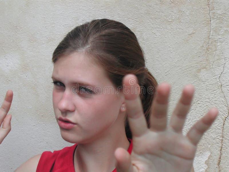Donna di combattimento fotografia stock