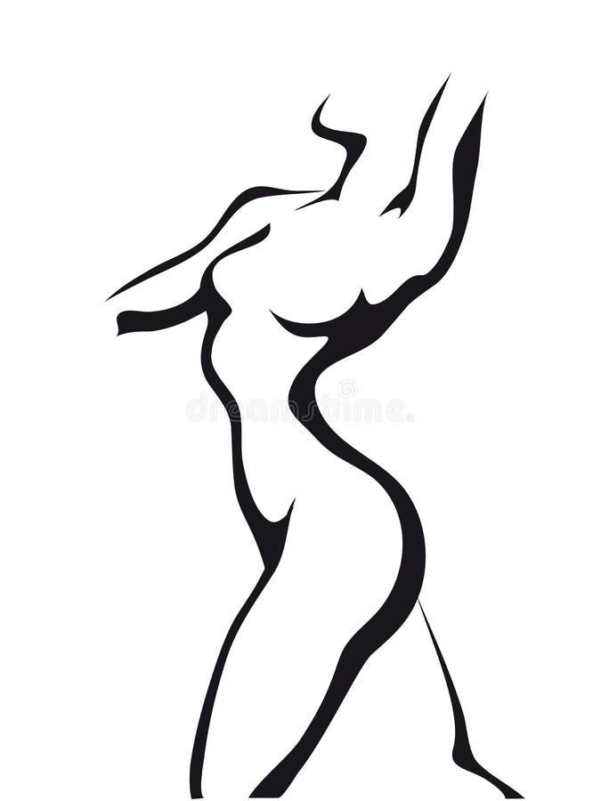 Donna di Dancing illustrazione vettoriale