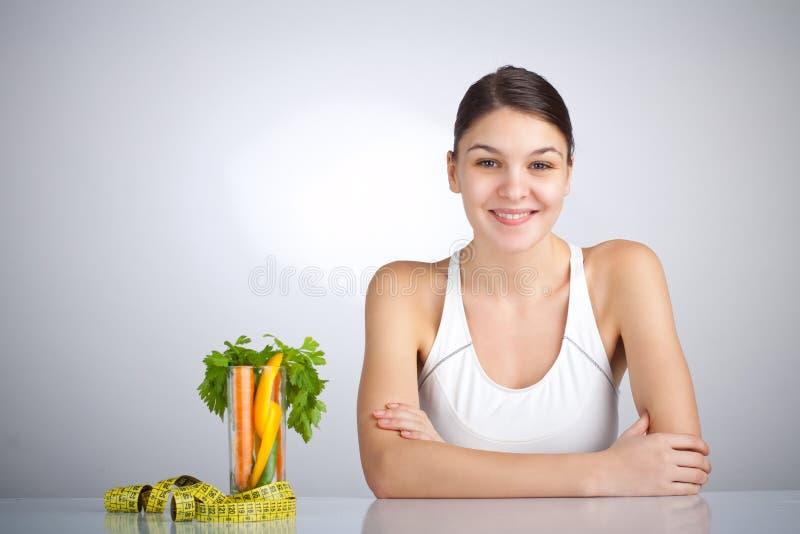 Donna Di Dieta Fotografia Stock