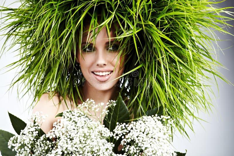 Donna di ecologia, concetto verde immagine stock libera da diritti
