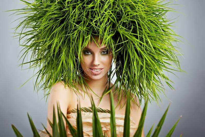 Donna di ecologia, concetto verde immagine stock