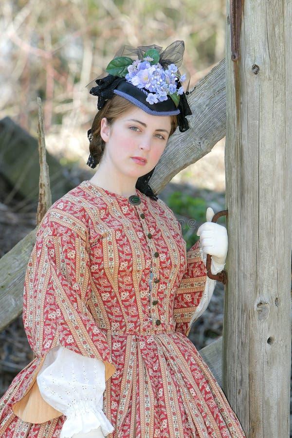 Donna di era di guerra civile fotografia stock