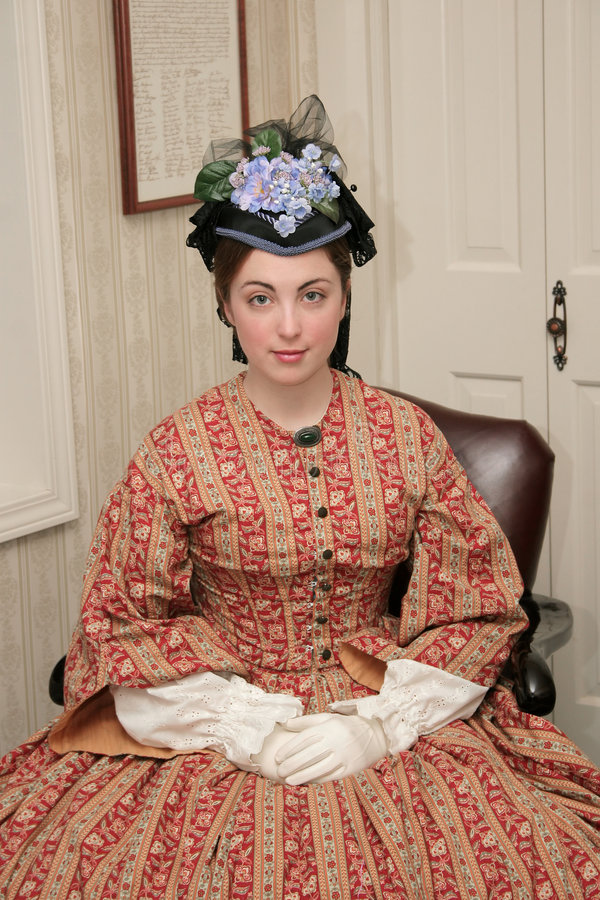 Donna di era di guerra civile immagine stock