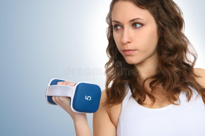 Donna di esercitazione di forma fisica fotografie stock libere da diritti