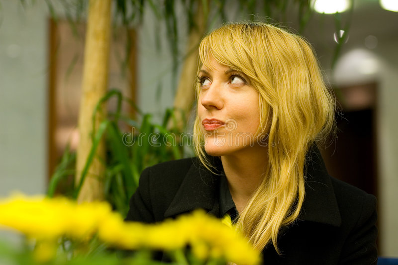 Donna di flirt di affari fotografia stock